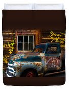 Moonshine Express Duvet Cover by Debra and Dave Vanderlaan