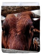 Mooo I See You Duvet Cover by Todd and candice Dailey
