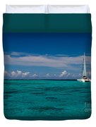 Moorea Lagoon No 16 Duvet Cover by David Smith