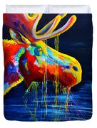 Moose Drool Duvet Cover by Teshia Art