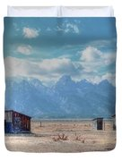 Morman Row Duvet Cover by Kathleen Struckle