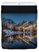 Morning At Horseshoe Lake Duvet Cover by Mike Reid