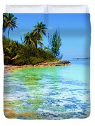 Morning In Andros Duvet Cover by Victor Minca