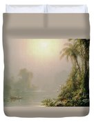 Morning In The Tropics Duvet Cover by Frederic Edwin Church