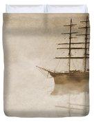 Morning Mist In Sepia Duvet Cover by John Edwards