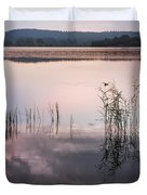 Morning Nocturne. Ladoga Lake. Northern Russia  Duvet Cover by Jenny Rainbow