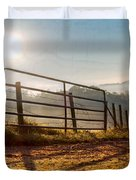 Morning Shadows Duvet Cover by Debra and Dave Vanderlaan