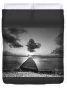 Morning Sunrise By The Dock Duvet Cover by Dan Friend