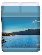 Morning View Of Cascade Reservoir  Duvet Cover by Robert Bales