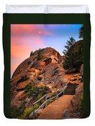 Moro Rock Path Duvet Cover by Inge Johnsson