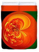 Morphed Art Globe 19 Duvet Cover by Rhonda Barrett