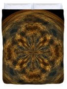 Morphed Art Globe 29 Duvet Cover by Rhonda Barrett