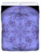 Morphed Art Globe 30 Duvet Cover by Rhonda Barrett