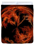 Morphed Art Globe 37 Duvet Cover by Rhonda Barrett