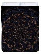 Morphed Art Globes 14 Duvet Cover by Rhonda Barrett