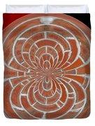 Morphed Art Globes 17 Duvet Cover by Rhonda Barrett