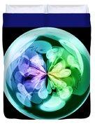 Morphed Art Globes 18 Duvet Cover by Rhonda Barrett