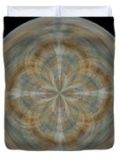 Morphed Art Globes 25 Duvet Cover by Rhonda Barrett