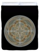 Morphed Art Globes 25 Duvet Cover by Rhonda Barrett