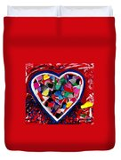 Mosaic Heart Duvet Cover by Genevieve Esson