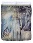 Moses And The Burning Bush Duvet Cover by William Blake