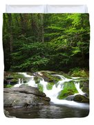 Mossy Falls Duvet Cover by Frozen in Time Fine Art Photography