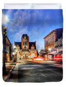 Most Beautiful Small Town In America At Christmas Duvet Cover by Darren Fisher