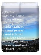 Most Powerful Prayer With Winter Scene Duvet Cover by Barbara Griffin