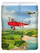 Mothecombe Moths Duvet Cover by Richard Wheatland