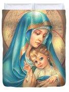 Mother Of God Duvet Cover by Zorina Baldescu