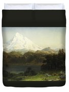 Mount Hood In Oregon Duvet Cover by Albert Bierstadt