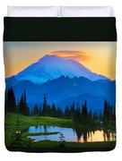 Mount Rainier Goodnight Duvet Cover by Inge Johnsson