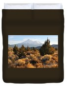 Mount Shasta In The Fall  Duvet Cover by Gary Whitton