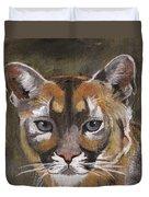 Mountain Cat Duvet Cover by Jamie Frier