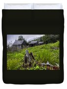 Mountain Mists At Le Conte Duvet Cover by Debra and Dave Vanderlaan