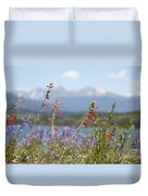 Mountain Wildflowers Duvet Cover by Juli Scalzi