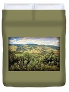Mountains North Of The Lamar Duvet Cover by Marty Koch