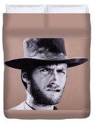 Mr. Eastwood Duvet Cover by Ellen Patton