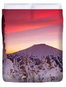 Mt. Bachelor Winter Twilight Duvet Cover by Kevin Desrosiers