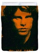 Mugshot Jim Morrison Duvet Cover by Wingsdomain Art and Photography