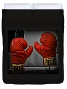 Muhammad Ali's Boxing Gloves Duvet Cover by Bill Cannon