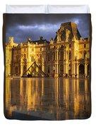 Musee Du Louvre Sunset Duvet Cover by Brian Jannsen