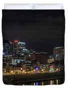 Music And Lights Duvet Cover by CJ Schmit