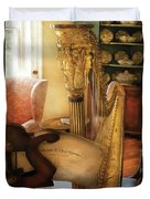 Music - Harp - The Harp Duvet Cover by Mike Savad