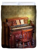 Music - Organist - Playing The Songs Of The Gospel  Duvet Cover by Mike Savad
