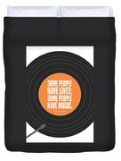 Music Quotes Typography Print Poster Duvet Cover by Lab No 4 - The Quotography Department