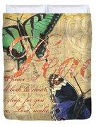 Musical Butterflies 2 Duvet Cover by Debbie DeWitt