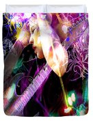 Musical Lights Duvet Cover by Mechala  Matthews