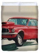 Mustang Launch Duvet Cover by Stacy C Bottoms