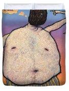 My head is a raisin. Duvet Cover by James W Johnson